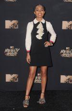 YARA SHAHIDI at 2017 MTV Movie & TV Awards in Los Angeles 05/07/2017