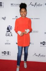 YARA SHAHIDI at Wearable Art Gala at California African American Museum in Los Angeles 04/29/2017