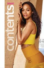 ZOE SALDANA in Shape Magazine, June 2017