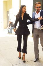 ZOE SALDANA Leaves Watch What Happens Live in New York 05/03/2017