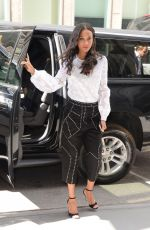 ZOE SALDANA Out and About in New York 05/03/2017