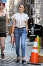 ZOEY DEUTCH on the Set of Set It Up in New York 05/17/2017
