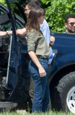 ABBY MILLER on the Set of The Sinner in New York 06/20/2017