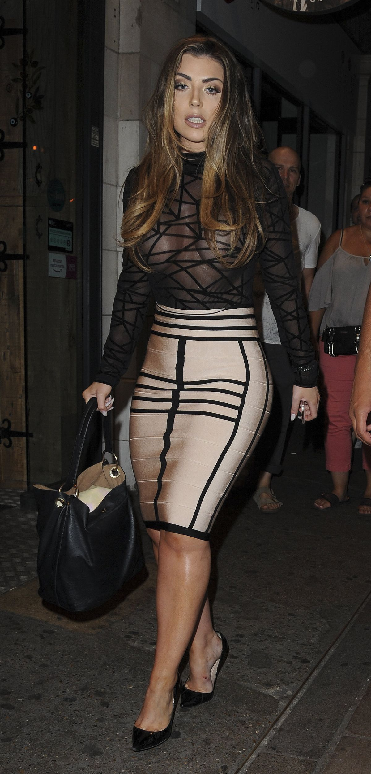 ABI CLARKE Arrives at Sixty6 Magazine Launch Party in