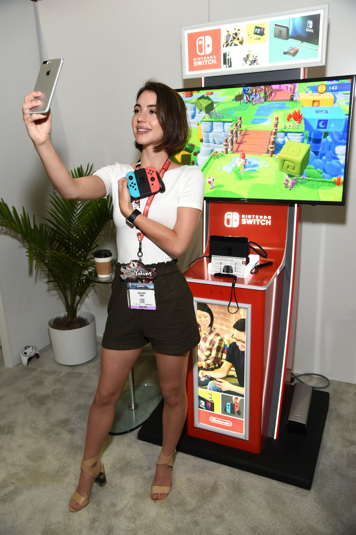 ADELAIDE KANE at Nintendo Booth at E3 Gaming Convention 2017 in Los Angeles 06/13/2017