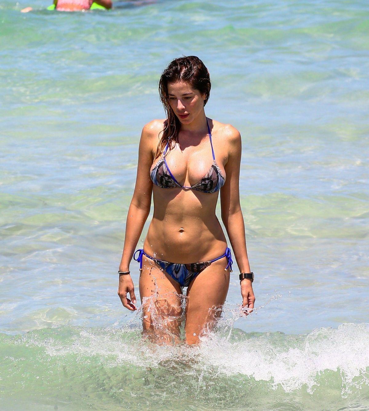 AIDA YESPICA in Bikini on the Beach in Miami 06/25/2017