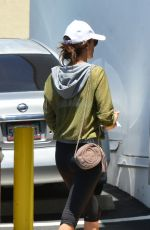 ALESSANDRA AMBROSIO at a Nail Salon in Brentwood 06/20/207