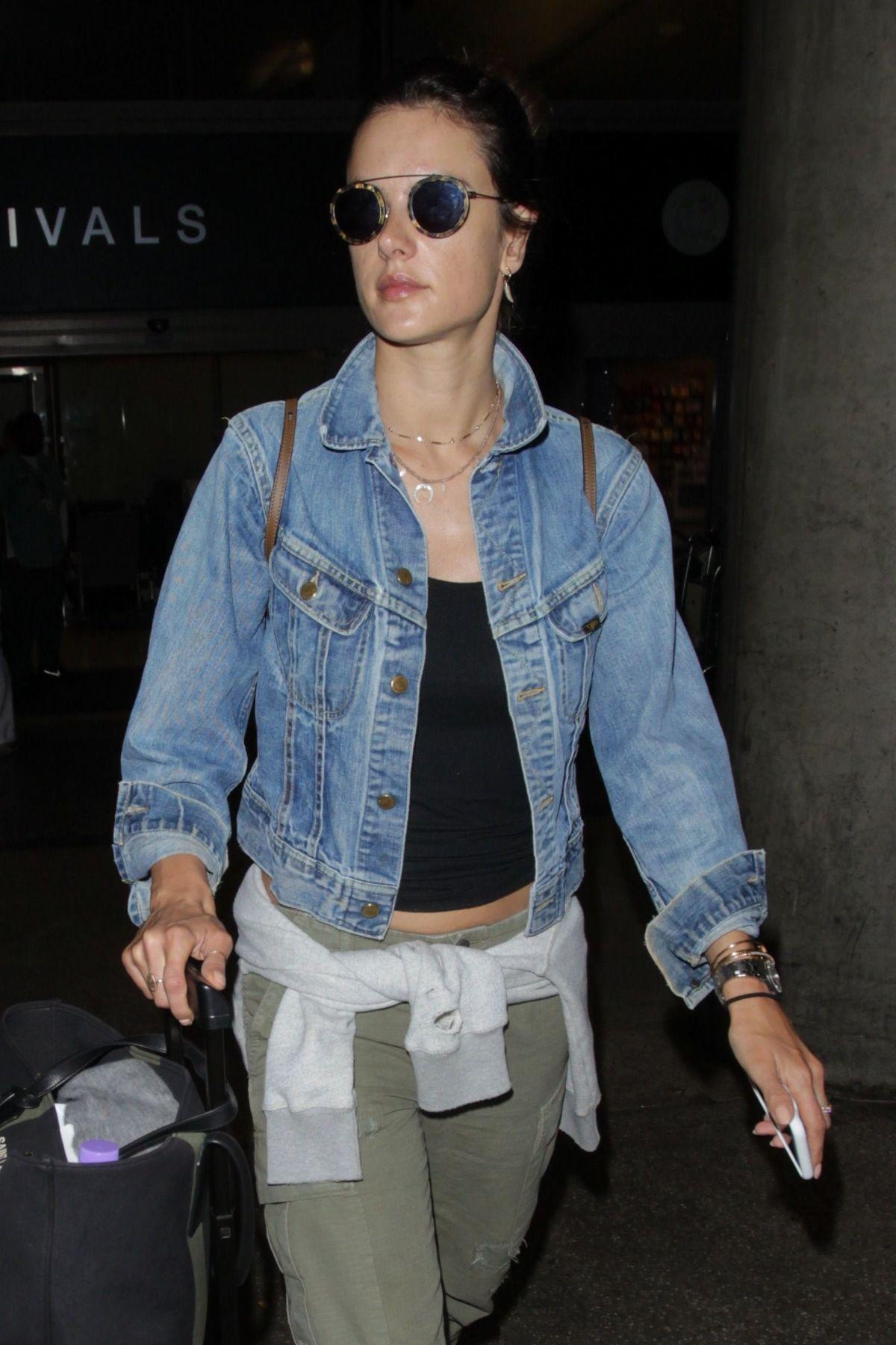 ALESSANDRA AMBROSIO at Los Angeles International Airport 06/09/2017