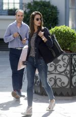 ALESSANDRA AMBROSIO Leaves Her Hotel in Madrid 06/03/2017