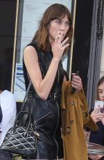 ALEXA CHUNG Leaves Colette Store in Paris 06/01/2017