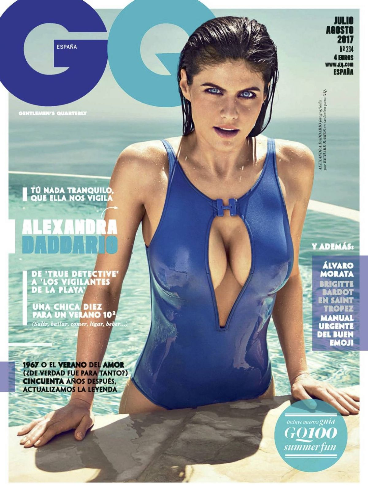 ALEXANDRA DADDARIO in GQ Magazine, Spain July/August 2017