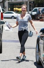 ALI LARTER Leaves a Gym in Santa Monica 06/13/2017