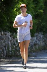 ALI LARTER Out for Jogging in Pacific Palisades 06/16/2017