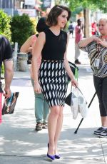 ALISON BRIE Leaves Her Hotel in New York 06/19/2017