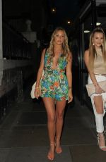 AMBER DOWDING and GEORGIA KOUSOULOU Leaves Lydia Rose Bright Book Launch Party in London 06/13/2017