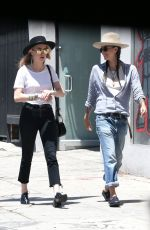 AMBER HEARD and TASYA VAN REE Out and About in Hollywood 06/16/2017