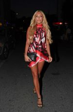 AMBER TURNER out for Dinner in Marbella 05/24/2017