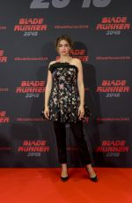 ANA DE ARMAS at Bladu Runner 2049 Photocall in Barcelona 06/19/2017
