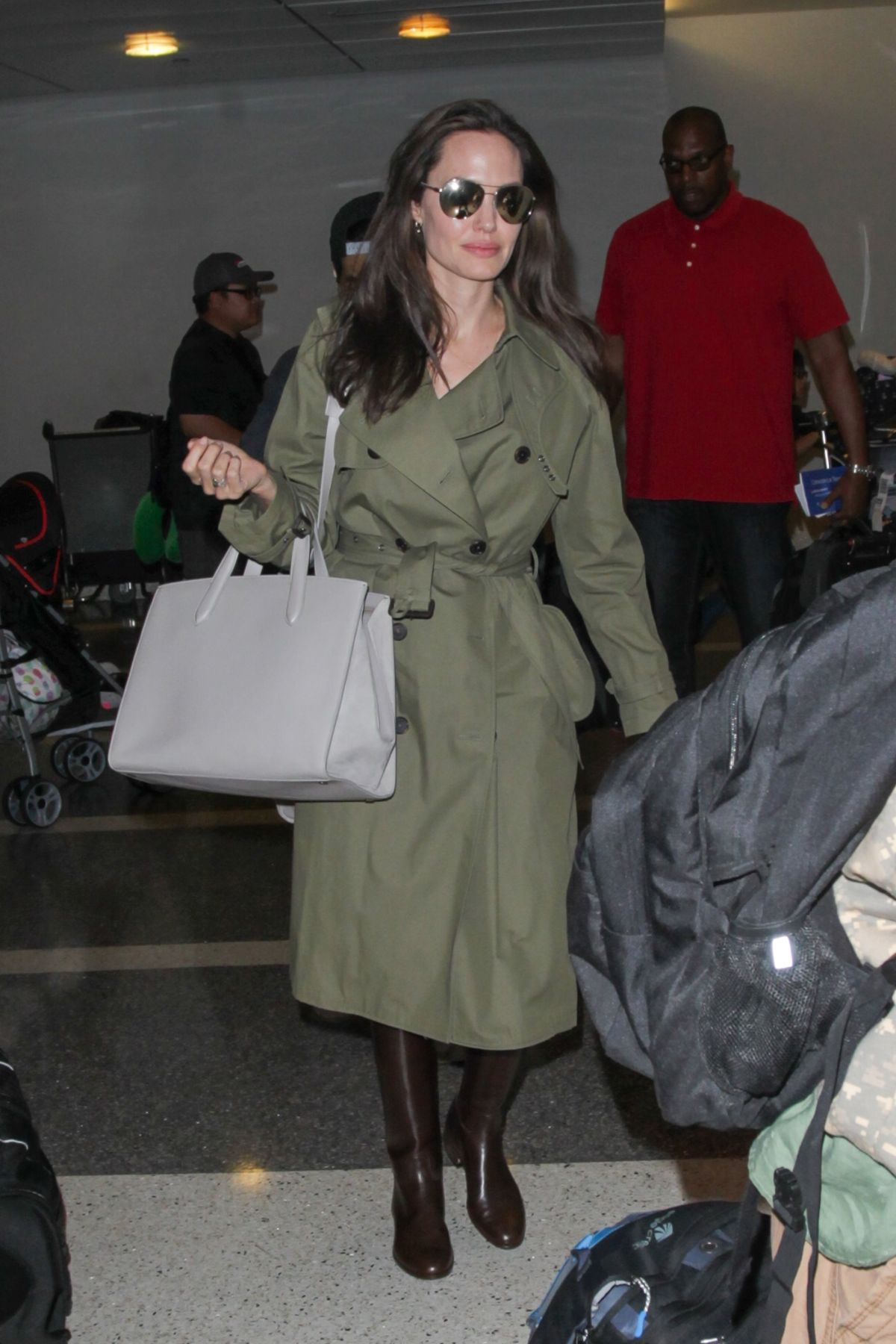 ANGELINA JOLIE at Los Angeles International Airport 06/17/2017