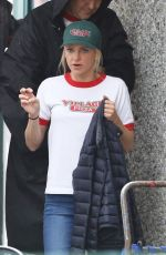ANNA FARIS on the Set of Overboard in Vancouver 06/08/2017