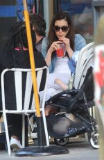 ANNE HATHAWAY and Adam Shulman Out for Lunch in New York 06/27/2017
