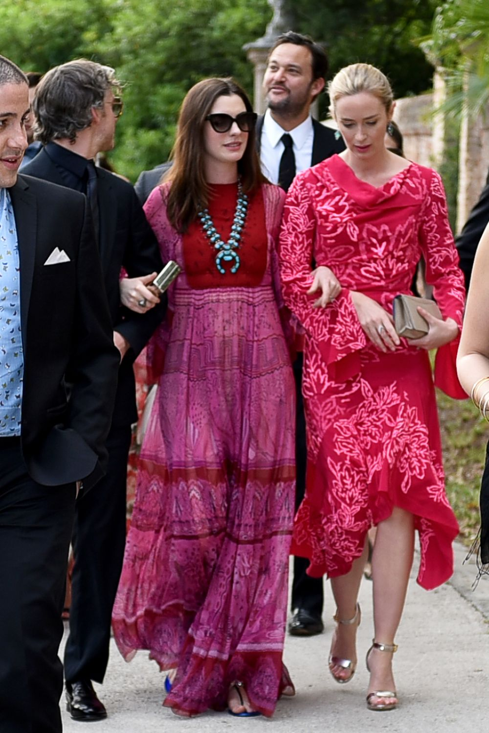 ANNE HATHAWAY and EMILY BLUNT at Jessica Chastain