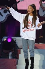 ARIANA GRANDE Performs at One Love Manchester Benefit Concert in Manchester 06/04/2017