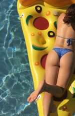 ARIEL WINTER in Bikini on a Giant Inflatable Pizza 05/19/2017