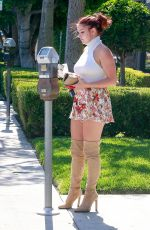 ARIEL WINTER in Short Skirt Out Shopping in West Hollywood 06/19/2017