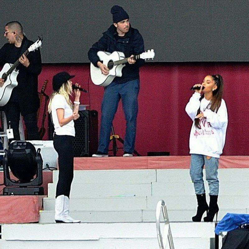 ARIANA GRANDE at One Love Manchester Benefit Rehersal 06/04/2017