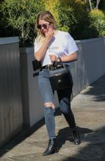 ASHLEE BENSON in Ripped Jeans Out in Los Angeles 06/02/2017