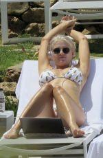 ASHLEY JAMES in Bikini at a Pool in Marbella 06/06/2017