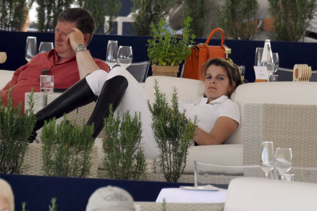 ATHINA ONASSIS at a Restaurant at Longines Horse Show in Cannes 06/02/2017