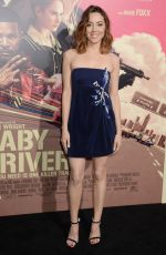AUBREY PLAZA at Baby Driver Premiere in Los Angeles 06/14/2017