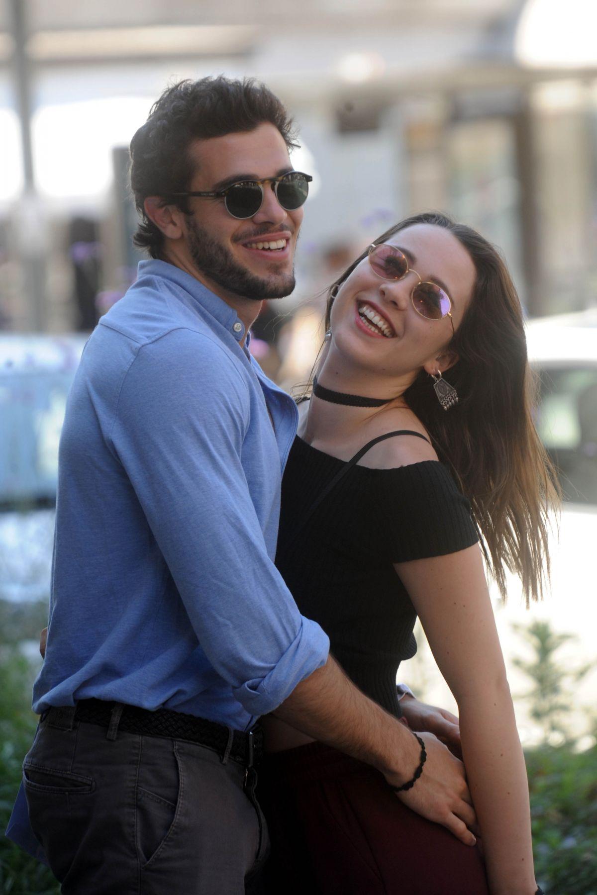 AURORA RAMAZZOTTI Out with Her Boyfriend in Milan 05/30/2017