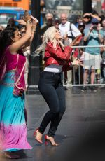 BEBE REXHA Arrives at Jimmy Kimmel Live in Los Angeles 06/09/2017