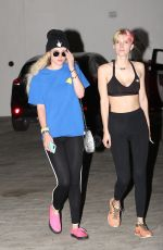 BELLA and DANI THORNE Leaves a Gym in Los Angeles 06/01/2017