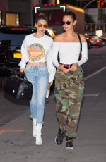 BELLA and GIGI HADID Out for Dinner in New York 06/14/2017