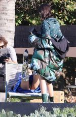 BELLA HADID and KENDALL JENNER on the Set of a Photoshoot in Los Angeles 06/19/2017