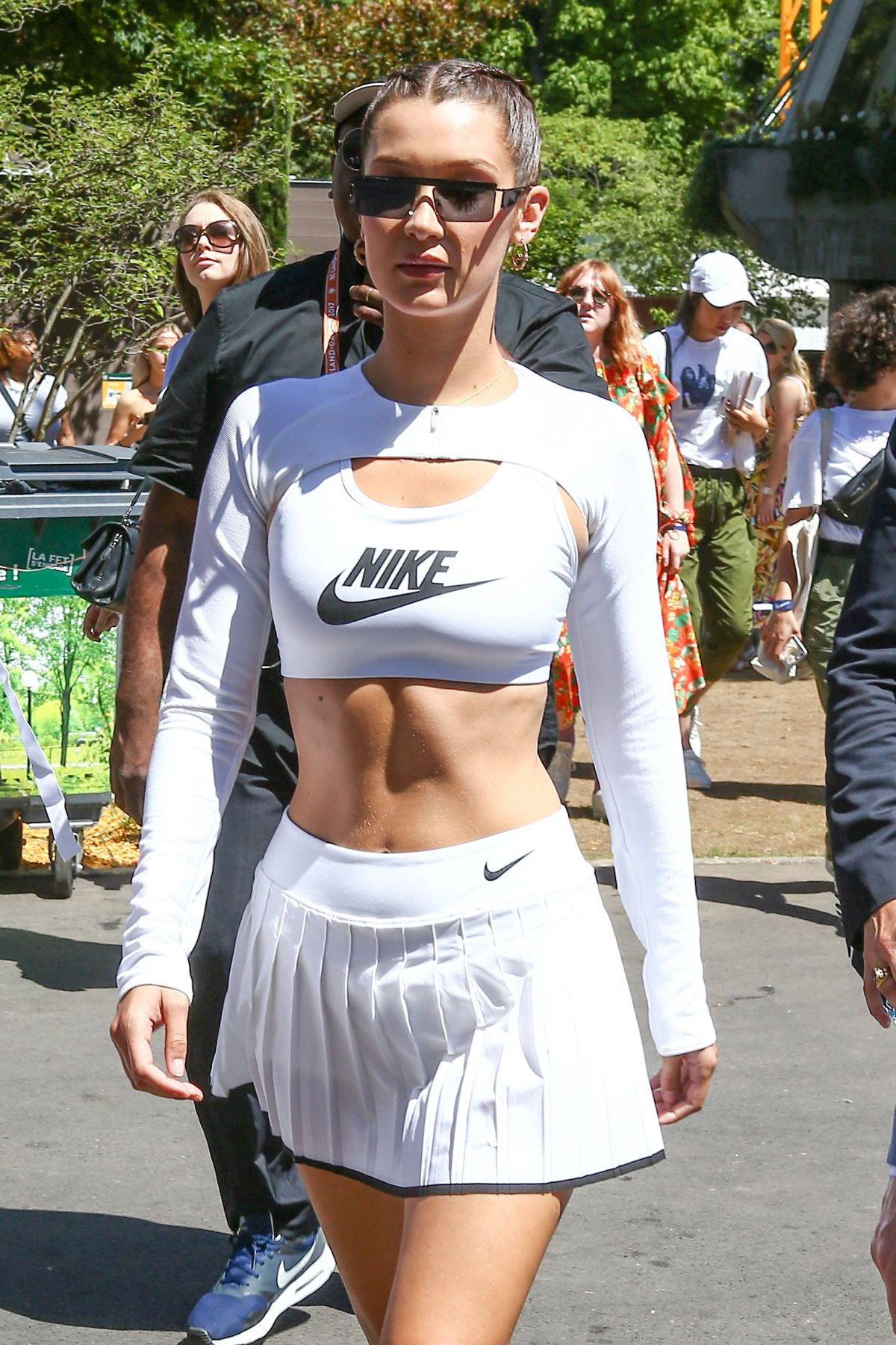 BELLA HADID Arrives at 2017 French Open at Roland Garros in Paris 06/10/2017