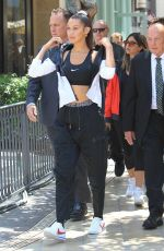 BELLA HADID Arrives at Nike Cortez Event in Los Angeles 06/03/2017