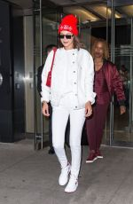 BELLA HADID Leaves Her Apartment in New York 06/08/2017