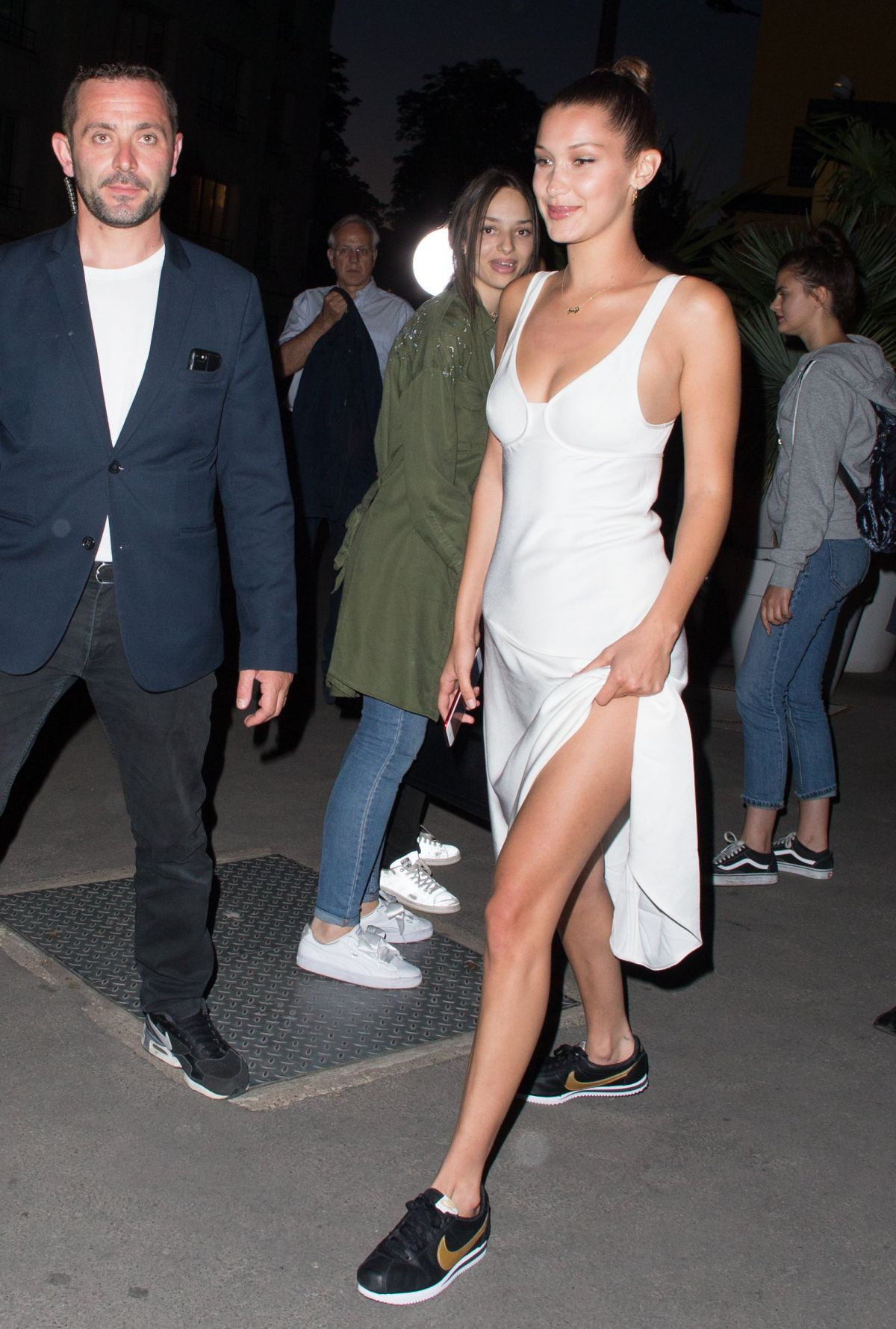BELLA HADID Night Out in Paris 06/10/2017