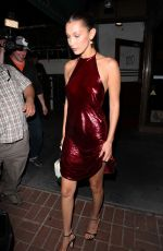 BELLA HADID Out for Dinner in West Hollywood 06/18/2017