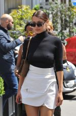 BELLA HADID Out for Lunch in Paris 06/09/2017