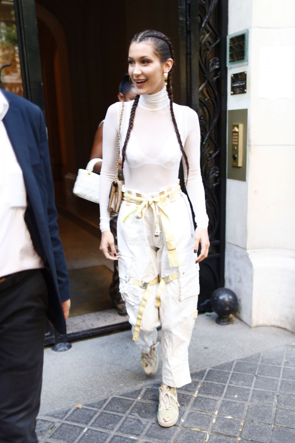 BELLA HADID Out in Paris 06/23/2017