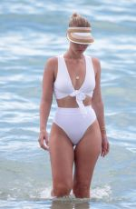 BIANCA ELOUISE in White Bikini on the Beach in Miami 06/27/2017