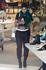 BLAC CHYNA Shopping at Saks Fifth Avenue in Beverly Hills 06/15/2017