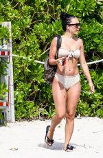 BRE TIESI and JORDAN in Bikinis on the Beach in Miami 06/14/2017