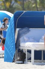 BRE TIESI in Bikini at a Beach in Miami 06/15/2017